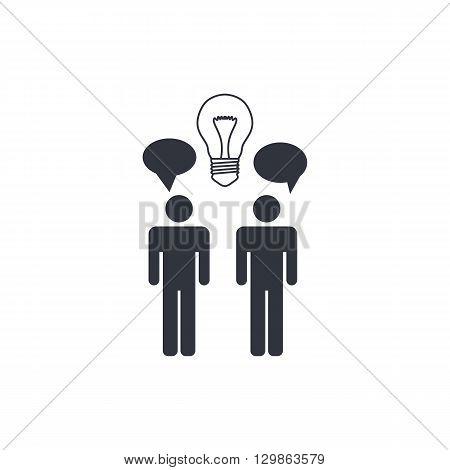 Brainstorming Icon In Vector Format. Premium Quality Brainstorming Symbol. Web Graphic Brainstorming