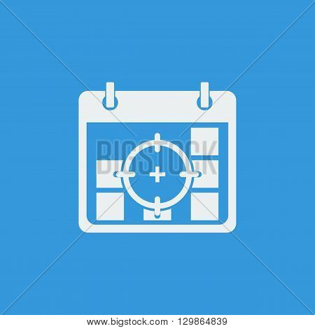 Deadline Icon In Vector Format. Premium Quality Deadline Symbol. Web Graphic Deadline Sign On Blue B