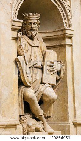 Statue Of King David At Prague Loreta