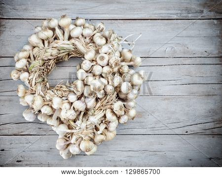 A Lot Of Garlic Bound Together