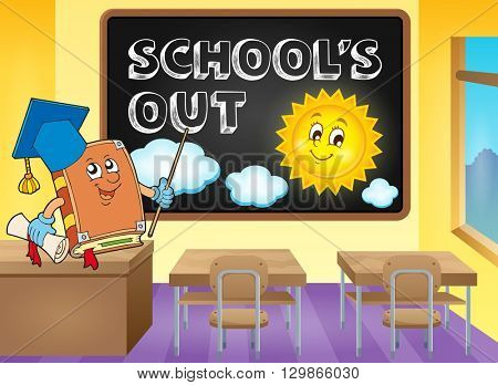 School holidays theme image 6 - eps10 vector illustration.