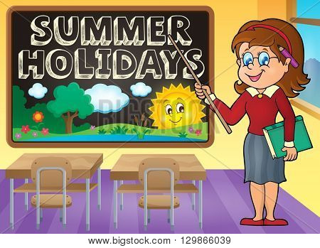 School holidays theme image 7 - eps10 vector illustration.