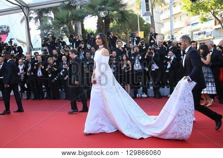Sonam Kapoor attends the screening of 'From The Land Of The Moon (Mal De Pierres)' at the annual 69th Cannes Film Festival at Palais des Festivals on May 15, 2016 in Cannes, France.