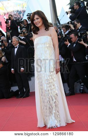 Iris Berben attends the screening of 'From The Land Of The Moon (Mal De Pierres)' at the annual 69th Cannes Film Festival at Palais des Festivals on May 15, 2016 in Cannes, France.