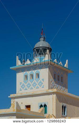 Lighthouse at Sidi Ifni on the Atlantic coastline in south Morocco.