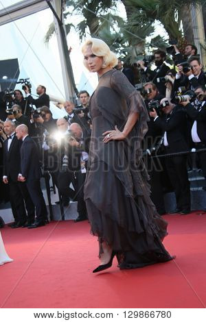 Miss Fame attends the screening of 'From The Land Of The Moon (Mal De Pierres)' at the annual 69th Cannes Film Festival at Palais des Festivals on May 15, 2016 in Cannes, France.