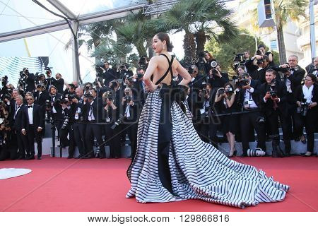 Araya A. Hargate attends the screening of 'From The Land Of The Moon (Mal De Pierres)' at the annual 69th Cannes Film Festival at Palais des Festivals on May 15, 2016 in Cannes, France.