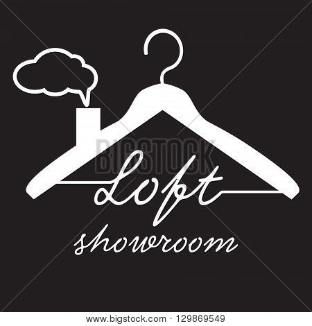 Coat Hanger icon on black background vector illustration