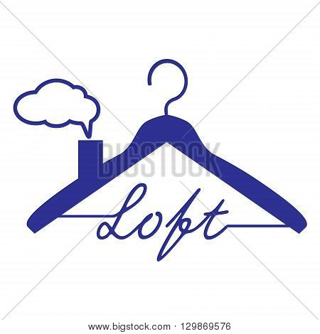 Hanger icon vector illustration loft roof sybmol