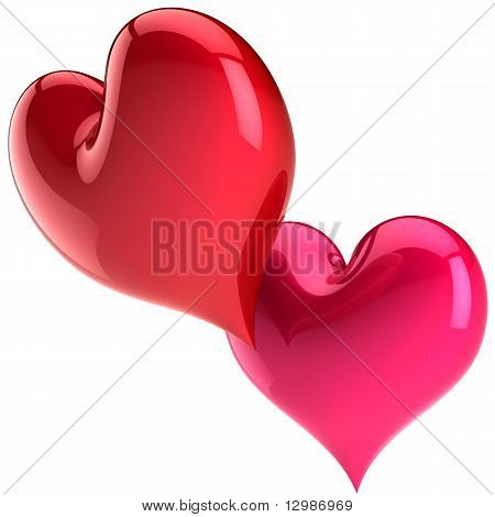Valentine's Heart shapes passion