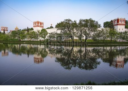 Landscape with the image of Novo-Devichi Convent