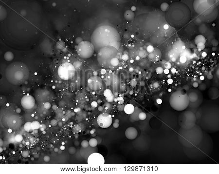 Bubbles in space bokeh fractal computer generated abstract intensity map