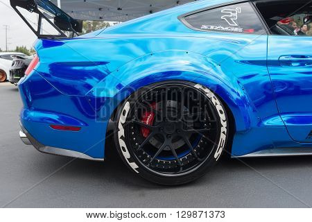 Modified Ford Mustang On Detail