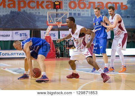 Bc Neptunas Guard Mindaugas Girdziunas With Ball