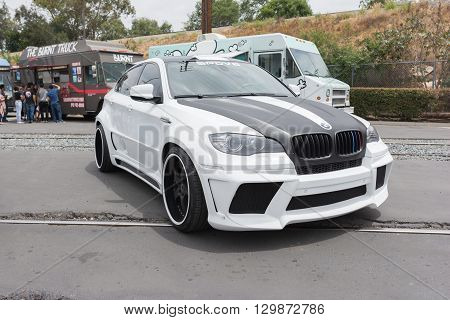 Fullerton, USA - May 14 2016: Modified BMW X series during Extreme Dimensions Car Show.