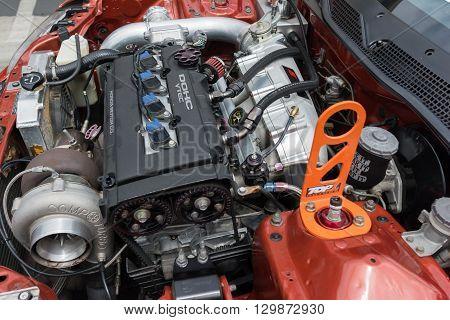 Modified  Honda  Dohc Vtec Engine