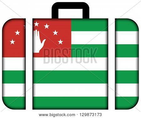 Flag Of Abkhazia. Suitcase Icon, Travel And Transportation Concept