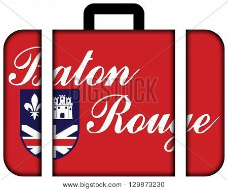 Flag Of Baton Rouge, Louisiana. Suitcase Icon, Travel And Transportation Concept