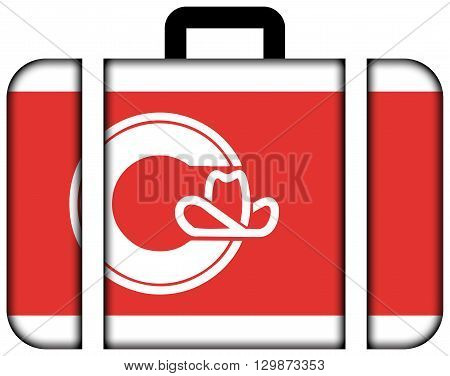 Flag Of Calgary. Suitcase Icon, Travel And Transportation Concept