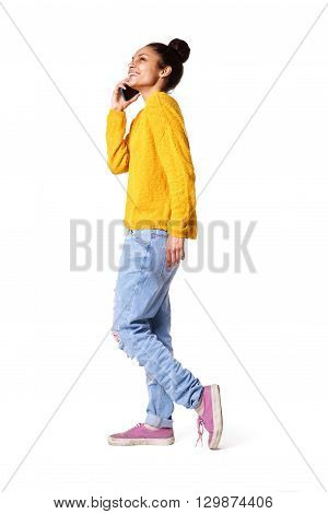 Stylish Young Woman Talking On Mobile Phone