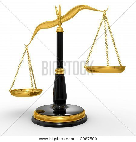 Classic Scales Of Justice