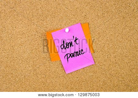 Do Not Panic Written On Paper Note
