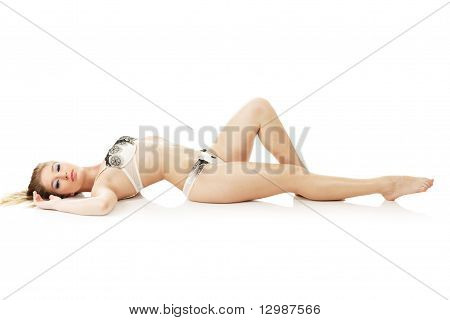 Beautiful Woman Lying Down