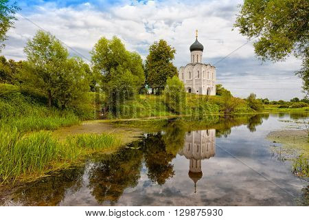 Church of the Intercession on the Nerl. Built in 12th century. Bogolyubovo Vladimir region Golden Ring of Russia
