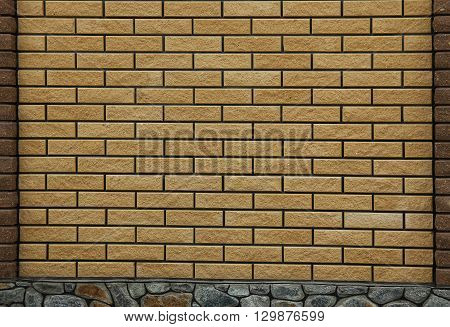 a new brown nice  brick wall background