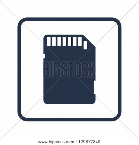 Sd Card Icon In Vector Format. Premium Quality Sd Card Symbol. Web Graphic Sd Card Sign On Blue Roun