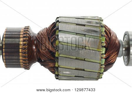 fragment electric engine on a white background
