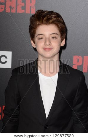 LOS ANGELES - MAY 14:  Thomas Barbusca at the Preacher Premiere Screening at the Regal 14 Theaters on May 14, 2016 in Los Angeles, CA