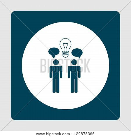 Brainstorming Icon In Vector Format. Premium Quality Brainstorming Symbol. Web Graphic Brainstorming