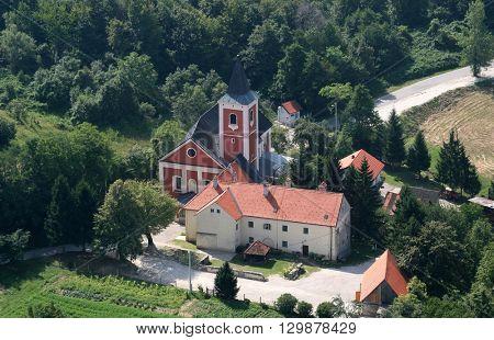 KOTARI, CROATIA - JULY 19: Church of Saint Leonard of Noblac in Kotari, Croatia on July 19, 2007.