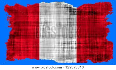 Flag of Peru, Peruvian Flag painted on paper texture