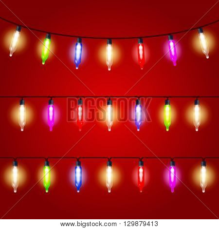 Christmas Lights - carnival electric bulbs strung