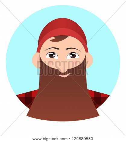 Vector flat illustration of Lumberjack for logos icons and your creativity