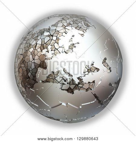 Europe On Metallic Earth