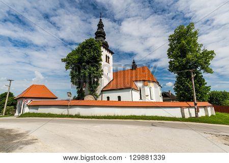 Church In The Centre Of The Village Liptovske Sliace, Slovakia