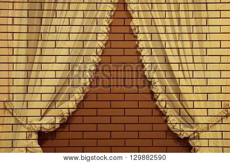 a new brown a  brick wall background