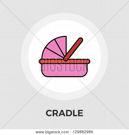 Cradle icon vector. Flat icon isolated on the white background. Editable EPS file. Vector illustration.