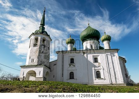 02 may 2016. Staraya Ladoga.Church of St. John the Baptist Nativity on Malysheva Mount in Staraya Ladoga.Russia.