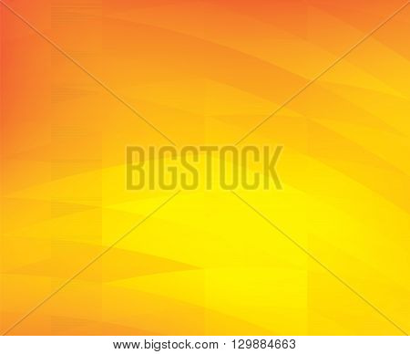 Abstract yellow geometric shapes background - Illustration