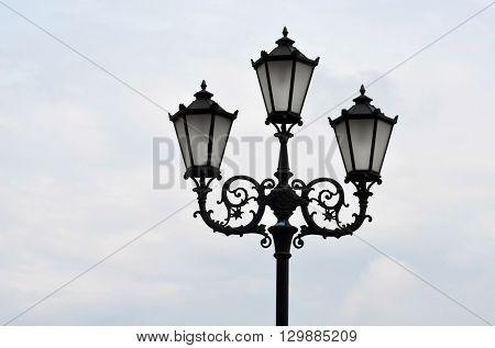 KIEV,UKRAINE - MAY 15, 2016: Downtown.Lantern. Historical area of Kiev. Ukraine