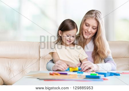 Preschooler teaching.