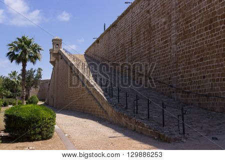 Fortress Wall In Old Acre