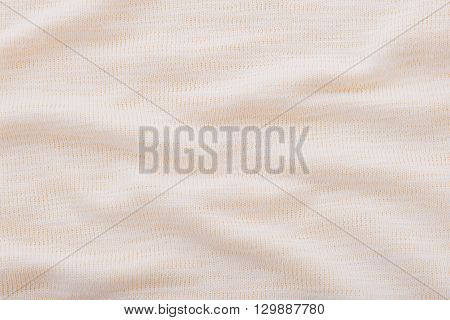 Close up of beautiful wrinkle beige fabric texture.