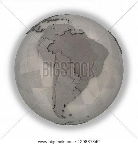 South America On Metallic Planet Earth