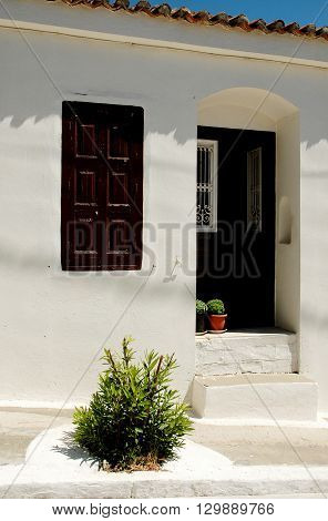 Entrance to the house in the village on the island of Samos