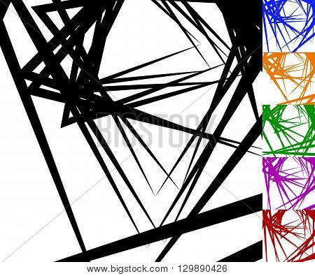 Edgy, Angular Background Set In 6 Colors.
